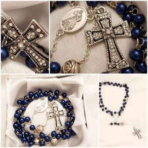 Accessories - Navy blue full length rosary